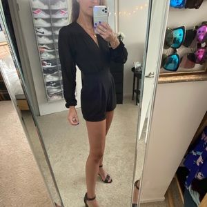 Nasty Gal Motel Black Romper